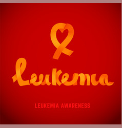 leukemia awareness image vector image