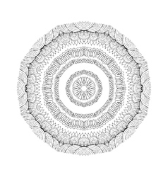 Mandala Round oriental pattern in indian style vector