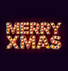 merry christmas sign carnival circus vector image