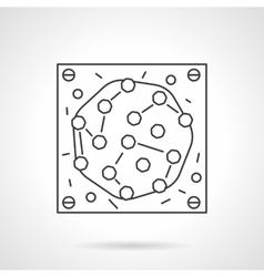 Microbe icon flat line design icon vector