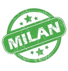 Milan green stamp vector