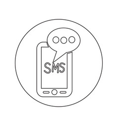 Mobile sms text message mail icon design vector