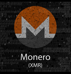 Monero cryptocurrency background vector