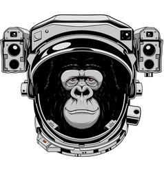 monkey cheerful astranavt vector image