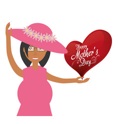 mothers day card mom pregnancy celebration vector image