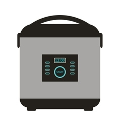 Multicooker Icon Card vector image