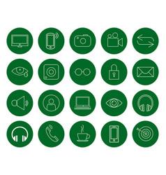 Multimedia for the user a set of twenty vector