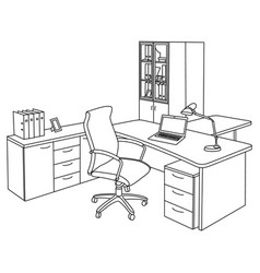 office in a sketch style vector image