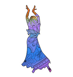 oriental dancer with transition colors vector image