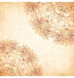 Ornate vintage background in mehndi style vector image