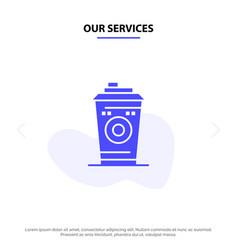 Our services coffee mug starbucks black coffee vector