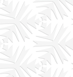 Paper white pointy complex trefoils vector