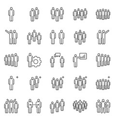 people team icons business partners teams work vector image