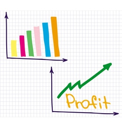 Profit Revenue Chart vector image