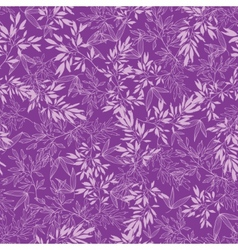 Purple branches seamless pattern background vector image