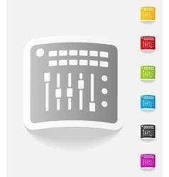 realistic design element mixer controller vector image vector image