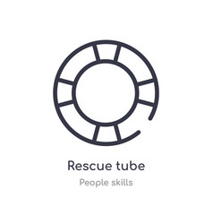 Rescue tube outline icon isolated line from vector