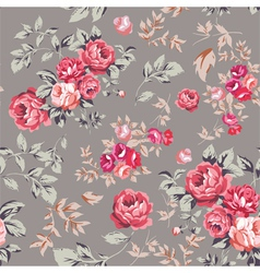 Rose seamless pattern pink brown vector