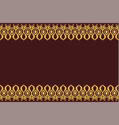 seamless horizontal border pattern with yellow vector image