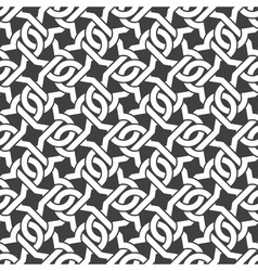 Seamless pattern of intersecting curly brackets vector