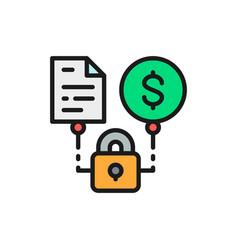 Secured loan loan agreement flat color vector