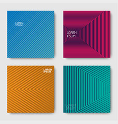 set of geometric halftone gradients vector image