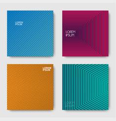 set of geometric halftone gradients vector image
