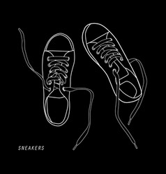 Shoes isolated on black vector