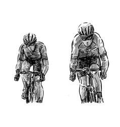 Sketch bicycle competition hand draw vector