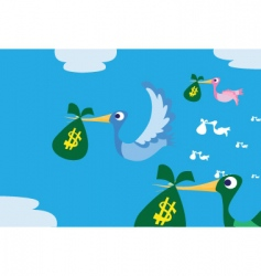 smuggling money vector image
