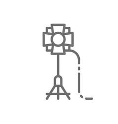 soffit camera flashlight spotlight studio vector image