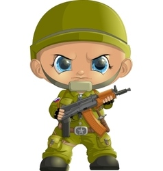 Soldiers 23 february vector