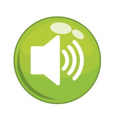 speaker sound button icon vector image