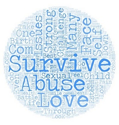 Survival text background wordcloud concept vector image