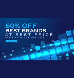 Technology offer banner promotional template for vector
