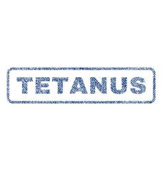 tetanus textile stamp vector image