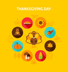 thanksgiving day concept vector image