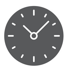 time glyph icon clock and minute hour sign vector image