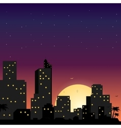 Town in flat style design vector