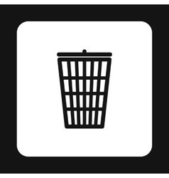 Trash basket icon simple style vector