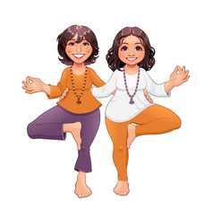 Tree pose in yoga vector