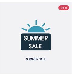 two color summer sale icon from summer concept vector image