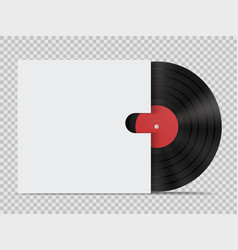 vinyl record with cover in realistic style vector image