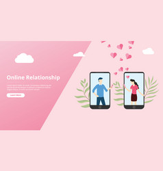 virtual online love relationship for website vector image