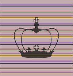 striped background with a crown vector image vector image