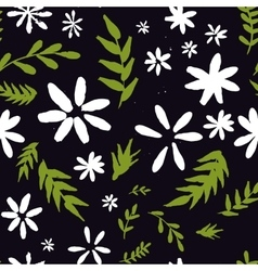 abstract seamless pattern with flowers and vector image