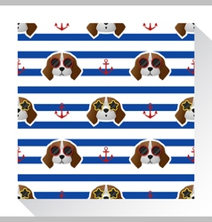 Animal seamless pattern collection with beagle dog vector image vector image