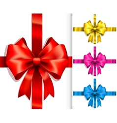 colorful ribbons and bows vector image vector image