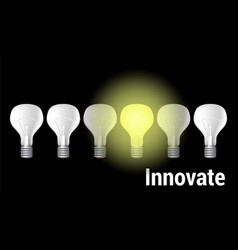 innovate on black vector image vector image