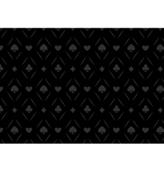 Luxury casino gambling poker background pattern vector image vector image